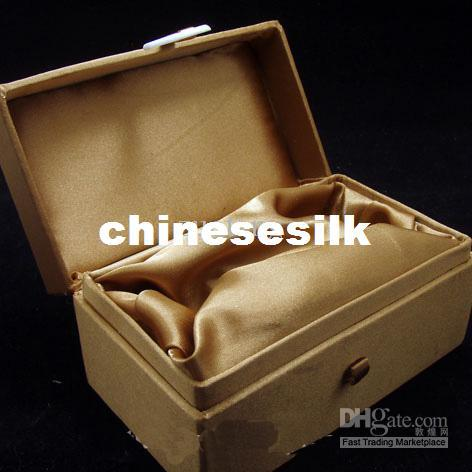 High End Tall Jewellery Gift Boxes Cotton filled Snuff Bottle Box Silk Printed Jade Packaging Box size 12x7x6.5 cm 5pcs/lot mix color Free