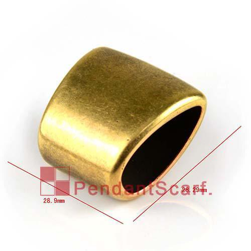 50 UNIDS / LOTE, Top Popular Joyería DIY Collar Bufanda Accesorios de Bronce Antiguo CCB Slide Holding Tubo Bails, Envío Gratis, AC0181B