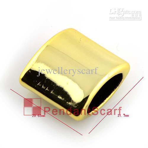 / Hot Populaire Bricolage Bijoux Collier Écharpe Résultats Shine Golden Plastique CCB Slide Support Tube Bails Charme, Livraison Gratuite, AC0182B