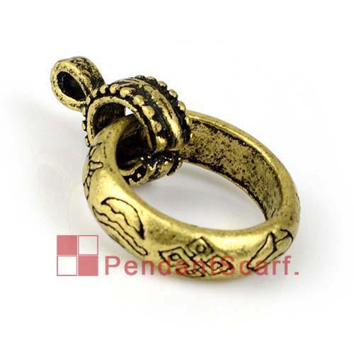 12 PÇS / LOTE, Top Qualidade DIY Colar Cachecol Achados Bronze Antigo Liga de zinco Slot Flor Charme Pingente Charme, Frete Grátis, AC0183B