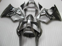 Wholesale Zx6r Silver Black - 7 Gifts black flames silver ABS plastic fairings kit for Kawasaki 2005 2006 2007 2008 ZZR600 ZZR 600 05 06 07 08 full fairing kit Y7