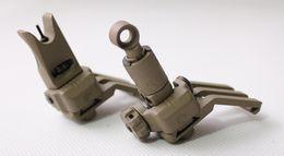 Wholesale Sight 45 Degree - Drss KAC 45 Degree Offset Rail Mounted Micro Folding Sights Dark Earth (BK)