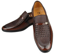 Wholesale Black Shoes Groom Men - NEW groom dress shoes Cool men's shoes Hollow out breathable leather sandals men's shoes casual shoes
