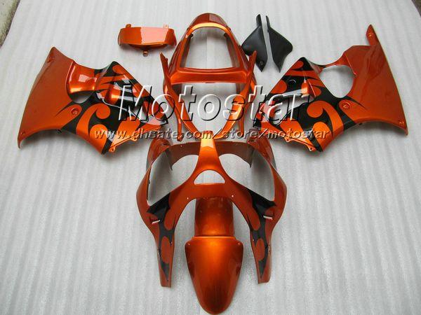7 gifts Burnt orange black fairings for KAWASAKI ZZR600 05-08 ZZR 600 2005 2006 2007 2008 05 06 07 08 injection molding