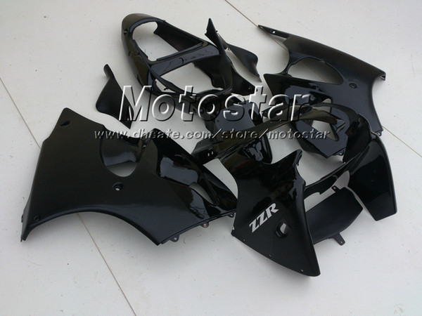 best selling Matte glossy Black fairing kit FOR KAWASAKI 2005 2006 2007 2008 ZZR600 05-08 ZZR 600 05 06 07 08 injection mold fairings