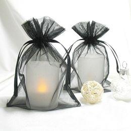 "Wholesale paper bangle - 17 colors Pick--Black Organza Drawstring Gift Bags 10cmx15cm (4""x6"") Necklace Bangle Bracelet Jewelry Pouches Fashion Wedding Candy Boxes"
