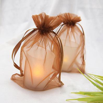 17 kleuren kiezen - zwart organza trekkoord geschenk tassen 10cmx15cm 4