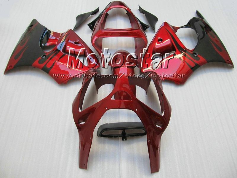 Black Red fairing kit FOR Kawasaki 2005 2006 2007 2008 ZZR600 05-08 ZZR 600 05 06 07 08 injection molding fairings