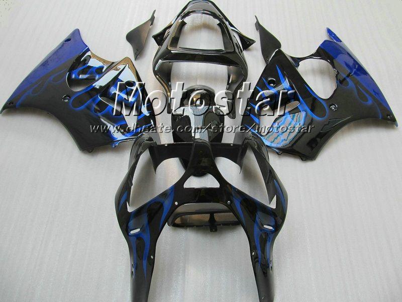 Blue Flame Fairing Kit voor Kawasaki 2005 2006 2007 2008 ZZR600 05 06 07 08 Injectie Gegoten ABS-bubbelbakken Gratis aanpassen
