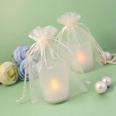 17 цветов Pick--100шт Слоновой Кости 10 * 15 см Sheer органзы мешок свадьбы пользу поставок подарок / конфеты мешок