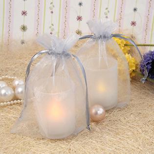 17 Kleuren Pick - 100 stks Ivory 10 * 15cm Sheer Organza Bag Bruiloft Gunst levert Gift / Candy Bag