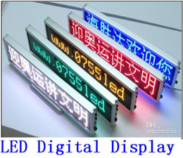 Wholesale Digital Led Scrolling - LED Digital desktop display All language led Scrolling Message Meeting screen clock display red yellow blue white green 5 color best price