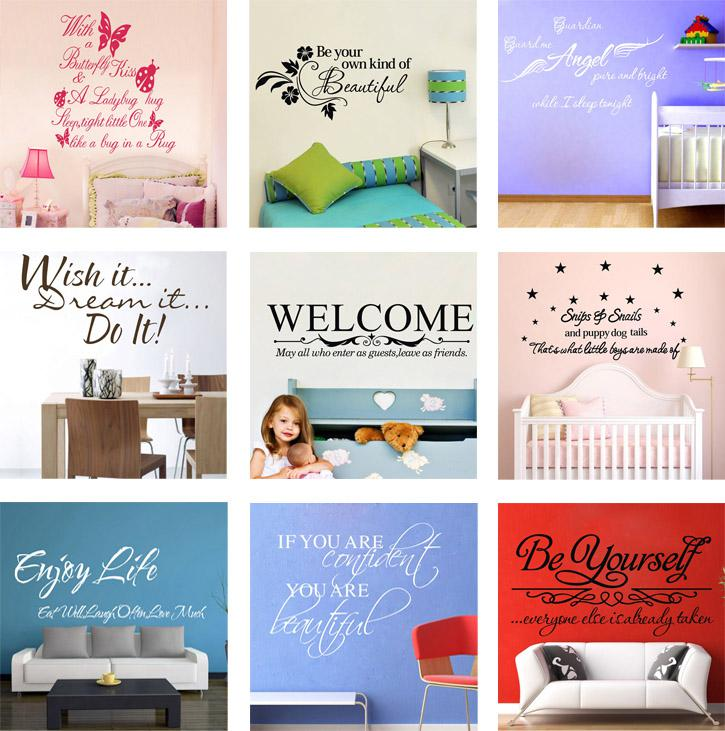 Wall Quote Decals Vinyl Wall Art Stickers Room Wall Decor Kids Wall  Stickers Words Saying Stickers Wall Quotes Online With $5.47/Piece On  China_craftsu0027s ...