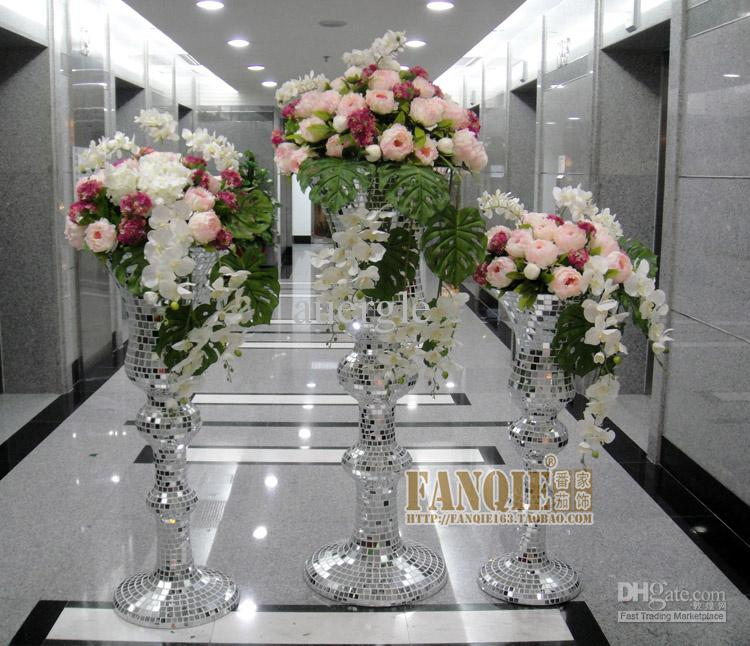 Large Floor Vase Set Artificial Flower Modern Fashion Artificial