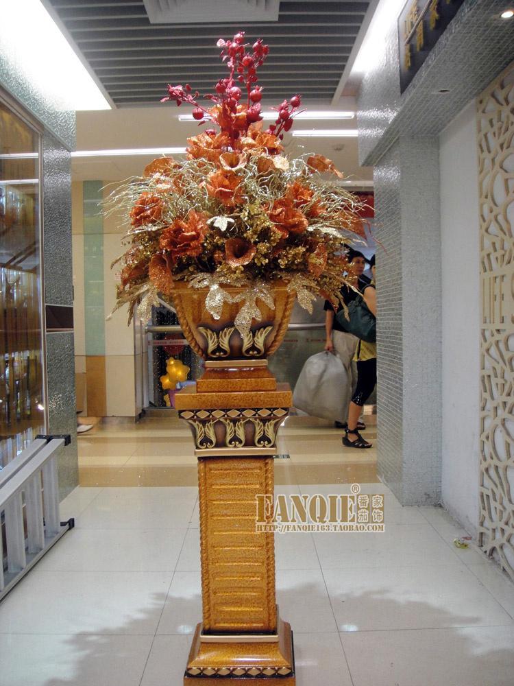 Large Floor Vase Set Fashion Stair Roman Column Flower Decoration