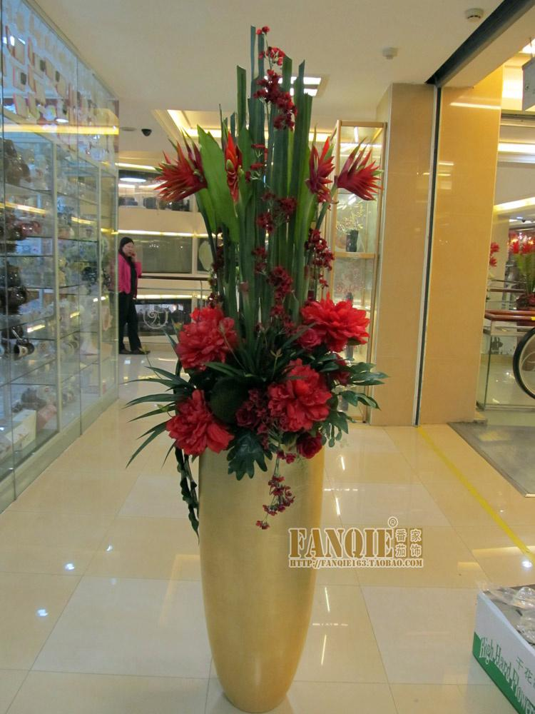 Large Floor Vase Set Modern Fashion Decoration Set Artificial Floral