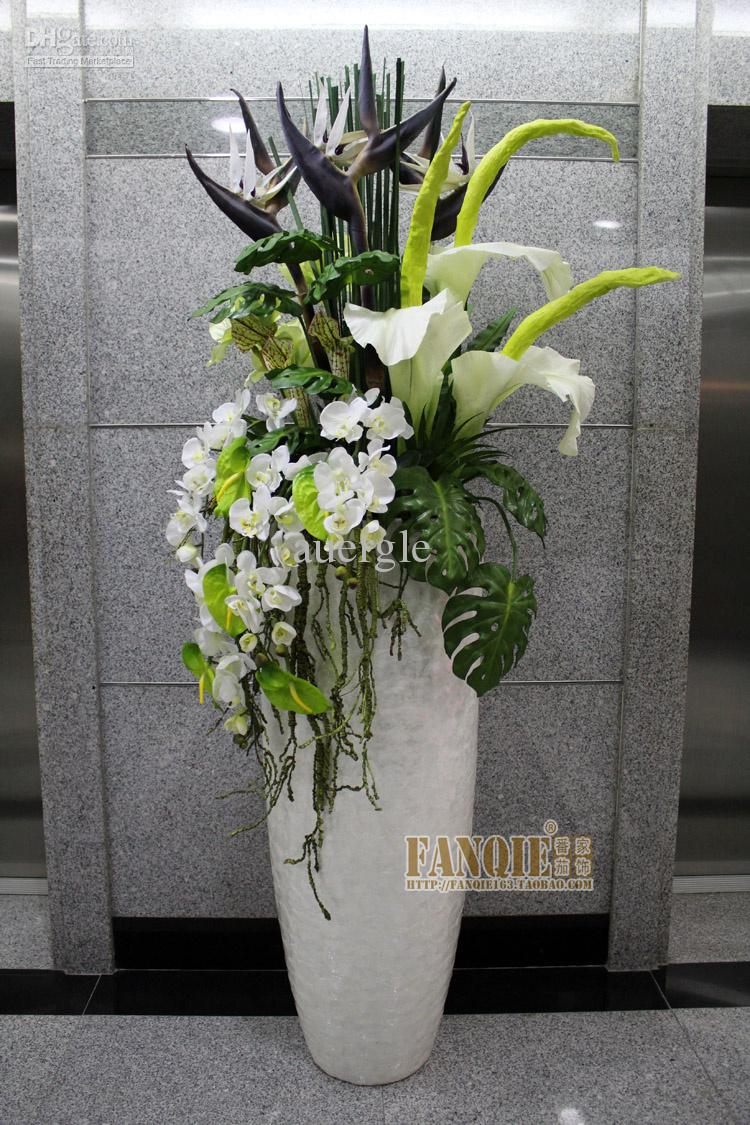 Floor vase fashion set flower stair decoration pu artificial floor vase fashion set flower stair decoration pu artificial flower cheap glass vases and bowls cheap glass vases for sale from auergle 162175 dhgate reviewsmspy