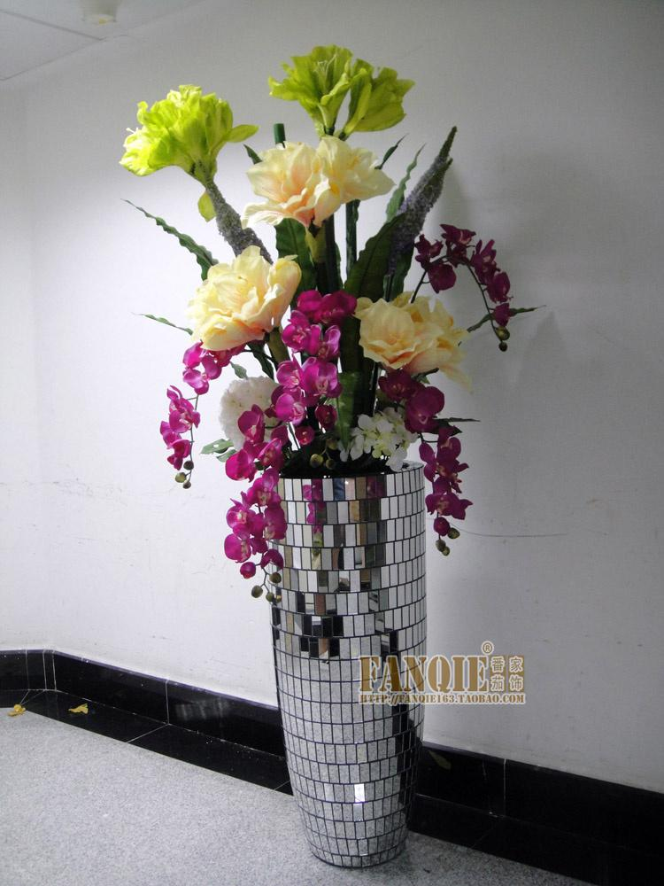 Large Floor Vase Set Modern Fashion Sets Flowers Artificial Flower