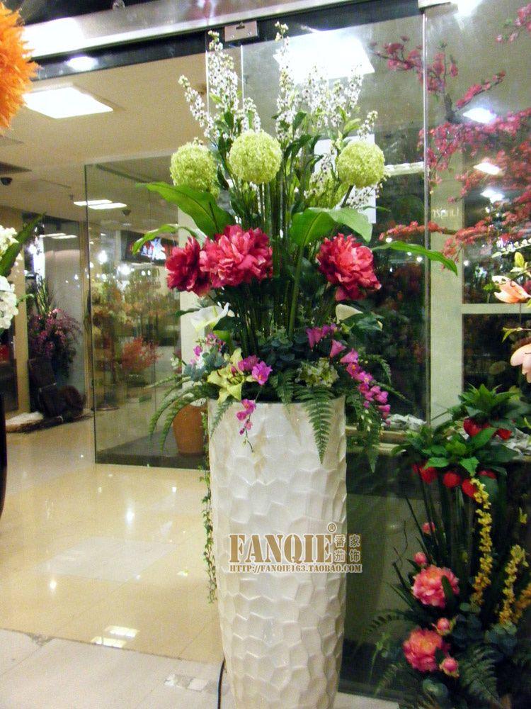 Floor Vase Set Modern Fashion Decoration Set Flower Stair Artificial