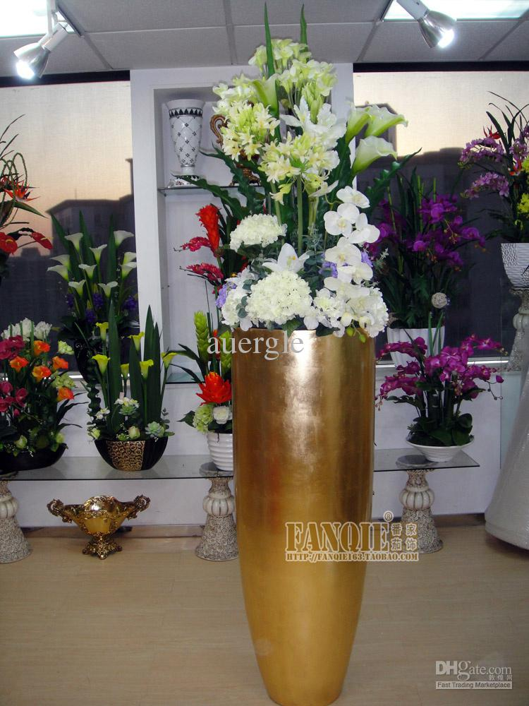Large Floor Vase Fashion Artificial Flower Modern Fashion Decoration on