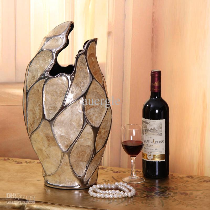 Luxury Handmade Shell Home Decoration Fashion Decoration Ceramic Vase Crafts White Ceramic Floor