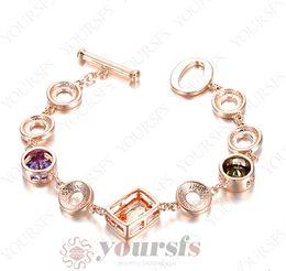 Wholesale Unique Fashion Clothes - Yoursfs Unique Design Geometric Shapes Bracelet Use Crystal Fashion European Charm Lovely Bracelet For Women Fashion Jewelry Sunmer Clothing