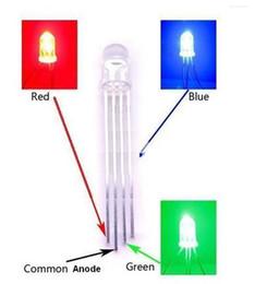 Frete grátis EMS livre para EUA 100x 5mm RGB LED ânodo comum difundida lente; Controle Manual de 4 Pinos Tri-Color venda por atacado
