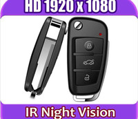Wholesale Dvr Ir Detection - FHD 1080P spy cam Car Key Hidden Camera MINI DV DVR IR Night Vision Motion Detection MINI Video Camcorder