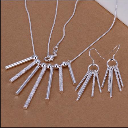 Mixte Ordre Top Qualité 925 Argent Collier Boucles D'oreilles Set Bijoux De Mode Pour Les Femmes Livraison Gratuite /
