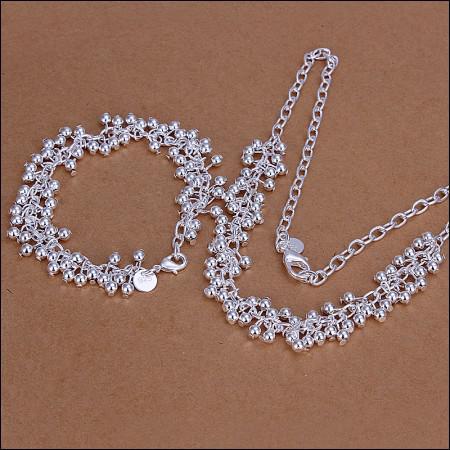 Pedidos mistos Top Quality 925 Sterling Prata Banhado Moda Jóias Set frete grátis / lote