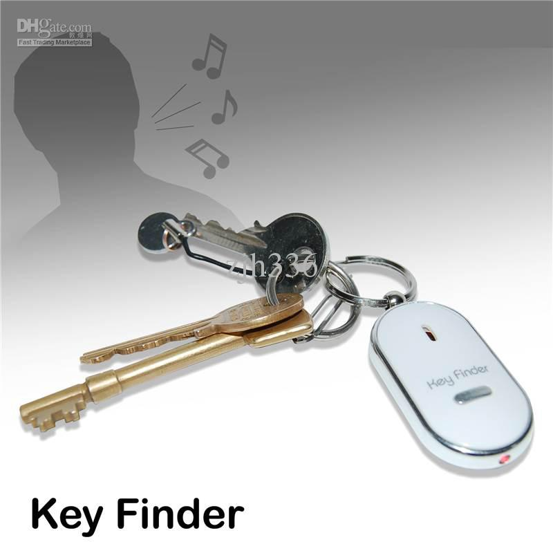 Free Shipping 5 Pieces/Lot LED Key Finder Locator Find Lost Keys Chain  Keychain Whistle Sound Control