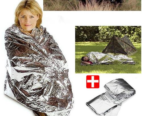 best selling 2-Side Silver Emergency Rescue Blanket silvery silver mylar waterproof emergency rescue space foil thermal blankets 130cm x 210cm 30pc lot