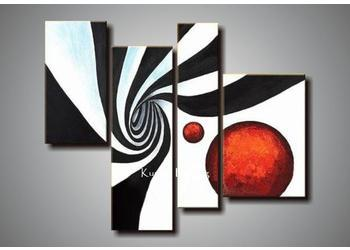 100 Hand Painted Black White Red Canvas Art Group Oil Painting Wall