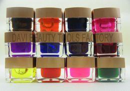 Smalto di chiodo online-SPEDIZIONE GRATUITA Smalto puro Colore UV Gel per unghie 12 colori UV GEL smalto PRO Nail Art Builder Gel unghie gel all'ingrosso