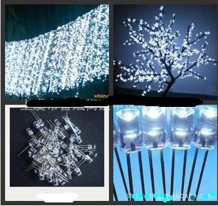 5mm Cylindrical Concave LED,Long flat top White LED,600-900mcd