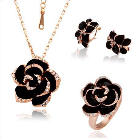 Órganos mezclados chapado en oro 18K Swarovski Elements Crystal Jewelry Set Collares de moda Pulseras Anillos Pendientes envío gratis /