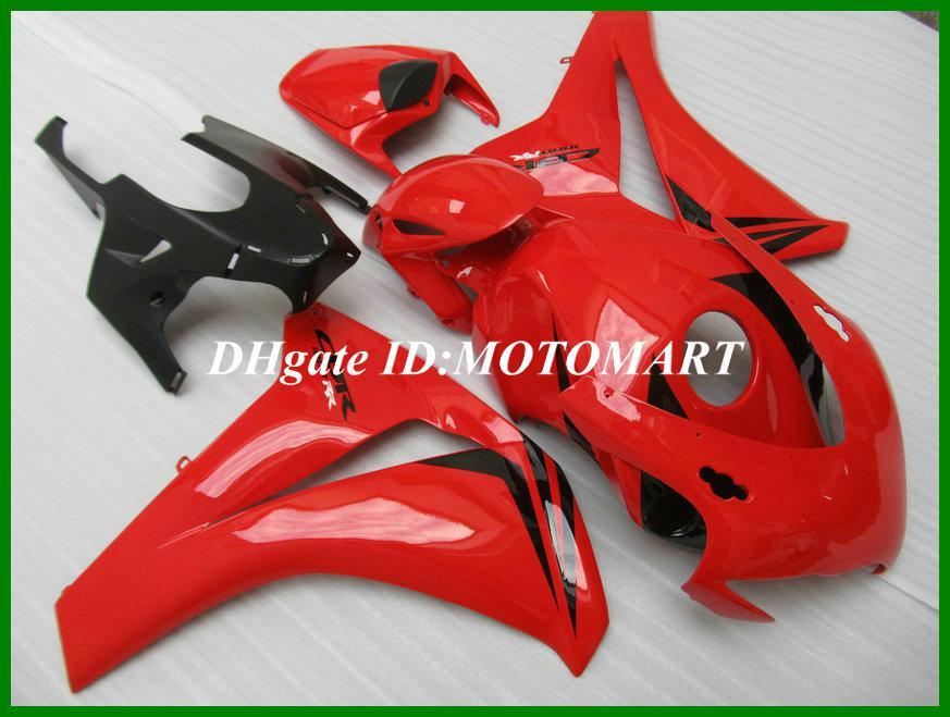 Kit carénage noir-rouge de qualité supérieure pour HONDA CBR1000RR 08 09 CBR 1000RR 2008 2009 CBR 1000 RR Moule d'injection Fairngs