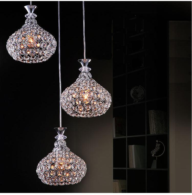 Modern Crystal Chandelier Lighting Chrome Fixture Pendant Lamp