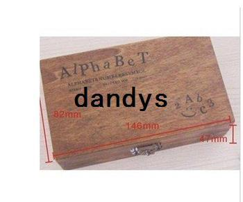 best selling Free Shipping regular script wood number and letter stamp gift set mini stamp multi-purpose Decorative DIY funny work Wholesale