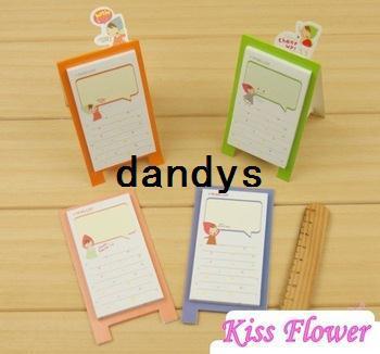 New cute cartoon little girl Notepad / sticky note Memo / message post 40Pcs/lot