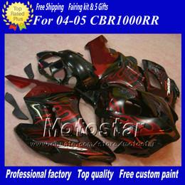 Abs Molding Canada - H1451 Red Flames Injection molding ABS Fairings for HONDA CBR1000RR 2004 2005 CBR1000 RR CBR 1000RR 04 05 full set fairing kit