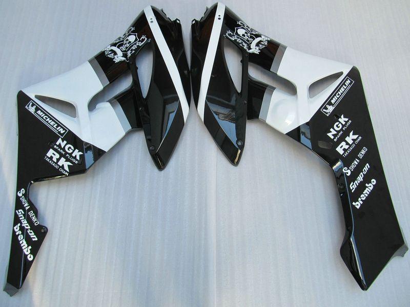 Carenados de ABS del molde de inyección H1460 WT / BK para HONDA CBR1000RR 2004 2005 CBR1000 RR CBR 1000RR 04 05
