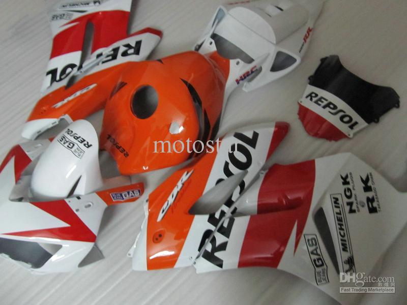 Blanc orage rouge REPSOL Moule à injection ABS Carénages pour HONDA CBR1000RR 2004 2005 CBR1000 RR CBR 1000RR 04 05 carénage carénage
