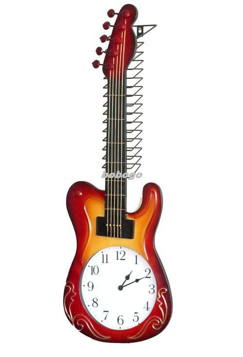 2017 Kindly Arts Cd Rack Wall Clock Guitar Wall Clock Creative