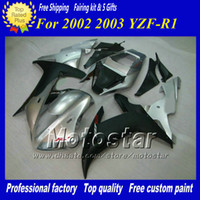 Matte black & Silver bodywork fairings for YZF R1 2002 2003 ...