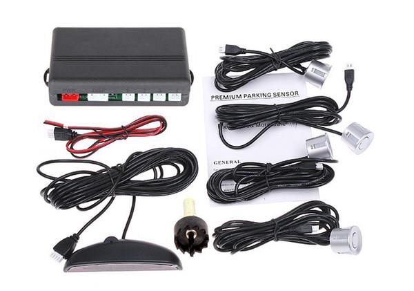 best selling Auto Parking Sensor System 12V LED Display Indicator Car Reverse Radar + 4 PCS Sensors
