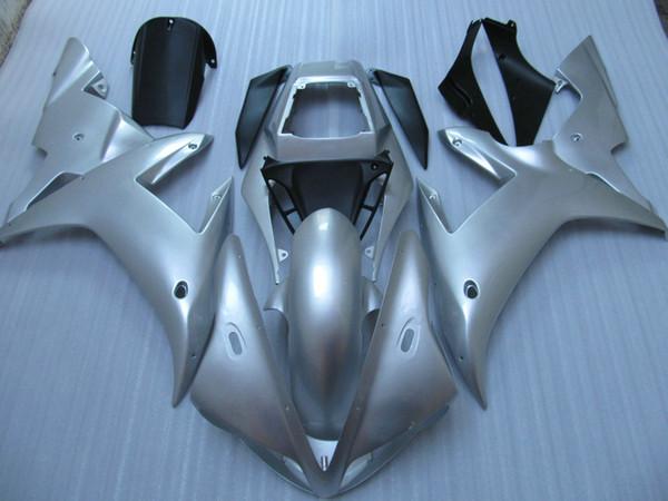 Carénages de moto moto argentés tout argent pour YZF R1 2002 2003 YZFR1 02 03 YZF-R1 kit complet