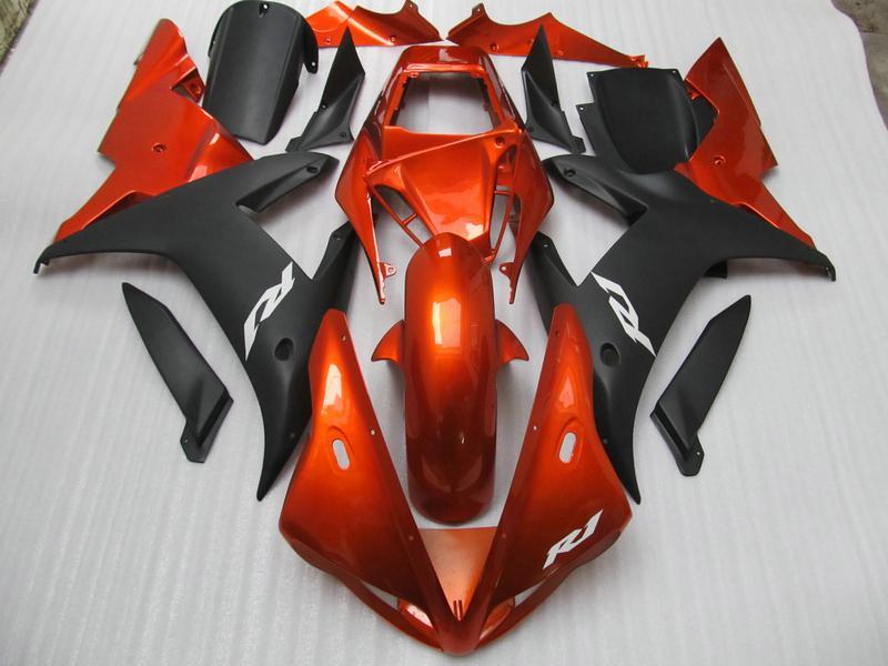 Оранжевый матовый черный R1 кузов обтекатели для Yamaha YZF R1 2002 2003 YZFR1 02 03 YZF-R1 полный комплект обтекателя + бесплатный подарок