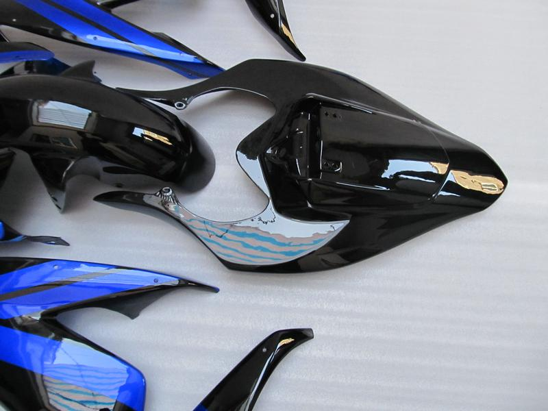 Svart Blue Fairing för Yamaha 2004 2005 2006 R1 YZFR1 04 05 06 YZF-R1 Full Fairing Kit Free Gift