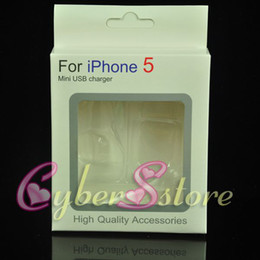 Wholesale Iphone 4s Box Retail Packaging - 100pcs Empty Retail Package Box Packaging For iphone 4 4S 5 3 in 1 (mini charger,car charger, usb cable)